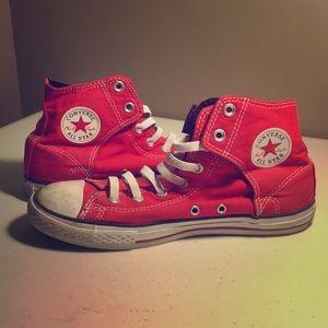 Boys Red High Top Coverse